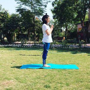 yoga posture Sun Salutation (Surya Namaskar)