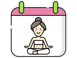 Yogadvisor - Calendar image with a character doing Yoga